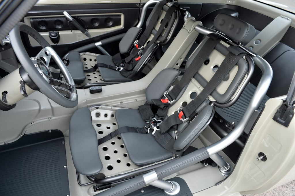 The custom fabricated aircraft-style racing seats will keep both driver and passenger planted in any situation.